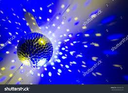 Blue Light Disco Disco Ball Shining Blue Light Stock Photo Edit Now 506092159