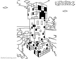 Minecraft Coloring Pages Roblox Creeper Free Printable Coloring Pages