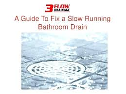 how to fix slow draining bathroom sink how to fix a slow draining bathtub how to