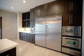 Large Stainless Steel Refrigerator in Contemporary Kitchen