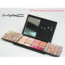 mac makeup collection kit including eye shadow blusher lip gloss and powder