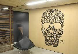 skull wall interior for advertising agency leo burnetts sydney office advertising agency office advertising agency