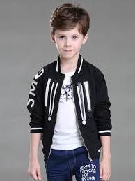 Design Jackets For Boys Boys Jacket Fashion Creative Design All Match Zipper Coat