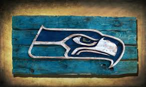 Small Picture Seattle Seahawks Handmade distressed wood sign vintage art