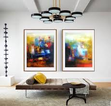 bright wall art abstract set of two