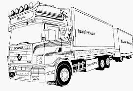 Kleurplaat Scania V8 Voorbeeld 4 Vrachtwagen Kleurplaat