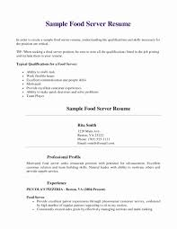 Server Example Resume Server Resume Examples Luxury Best Server Resume Example Resume 1