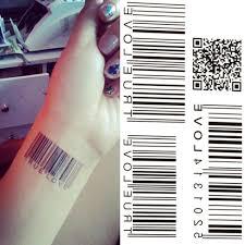 новая водная передача штрих код водонепроницаемый временные татуировки наклейки