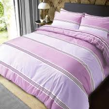 sc banded stripe pink quilt cover