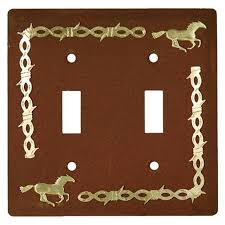 17 best ideas about light switch wiring electrical rustic horse brass barbed wire double light switch plate