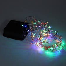 Solar Led Copper Wire Lights Us 3 14 5 Off 5m 50lights Solar Led Copper Wire String Light Home Outdoor Solar Powered Copper Wire Light String Fairy Christmas Party Decor H In