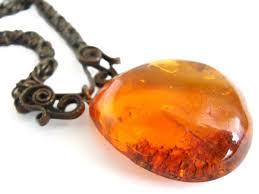 honey amber necklace