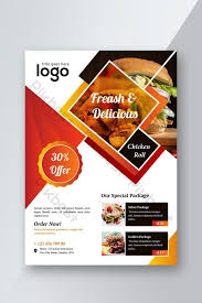 Food Restaurant Offering Special Discount Flyer Template