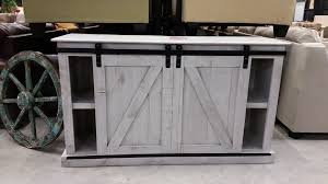 Distressed White Barn Door TV Stand Distressed Tv Stand R64
