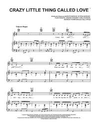 crazy little thing called love sheet music crazy little thing called love sheet music