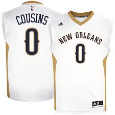 Jersey New - Pelicans White Home Adidas Demarcus Orleans Replica Cousins