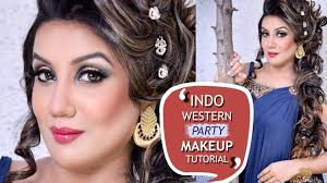 indo western party makeup tutorial latest glam for parties 2018 best tutorials