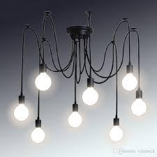 retro classic chandelier e27 spider lamp pendant bulb holder group edison diy lighting lamps lanterns accessories messenger wire pendant bulb retro classic