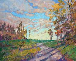 new hampshire east coast fall colors oil painting by landscape painter erin hanson