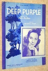 DEEP PURPLE (Doris Rhodes on Cover) Vocal Edition: Amazon.com: Books