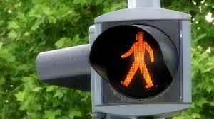 Pedestrian Light Crossing Blinking Yellow Traffic Light Blinking Yellow Traffic Light Warning Sign On Pedestrian Crossing Stock Video Footage Storyblocks Video