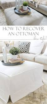 how to make a slipcover for an ottoman or coffee table ikea style