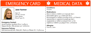 Emergency Card Template 28 Images Of Wallet Id Card Template Sample Bfegy Com