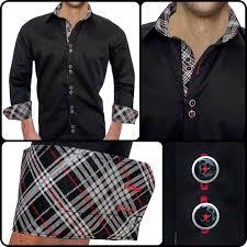 Black Designer Dress Shirt Mens Designer Dress Shirt Avenger