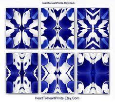 navy blue white ikat wall art abstract geometric art prints gallery wall collection set of 6 on royal blue and white wall art with cobalt blue white living room wall decor royal blue bedroom navy