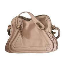 leather shoulder bag chloÉ pink fuchsia light pink