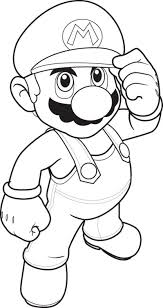 Small Picture Mario Bros Coloring Pages Cartoon Coloring pages of