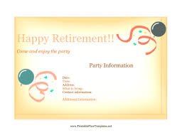 Free Retirement Announcement Flyer Template Flyer For Retirement Party