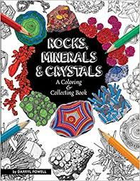 rocks minerals crystals a coloring collecting book darryl powell 9781889786568 amazon books