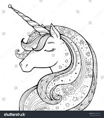 Unicorn Magical Animal Vector Artwork Black