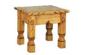 traditional cowboy end table with carved rope and stars ltx lat 170