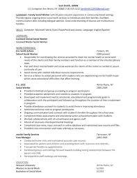 Social Work Skills Resume Professional Entry Level Social Worker