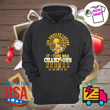 Shop officially licensed los angeles lakers apparel, shirts and hoodies at tailgate to prep for game day. Los Angeles Lakers 17 Time Nba Champions Shirt Hoodie Tank Top Sweater And Long Sleeve T Shirt