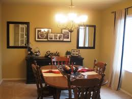 decorating dining room. Traditional Dining Room Decorating Ideas With Wooden Table And Oak Chairs Near Black Cabinet A