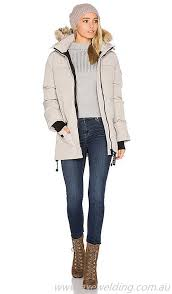 Canada Goose Women Clothing Jackets   Coats CANA-WO71-XS Solaris Parka with  Coyote Fur Trim Canada Goose Limestone