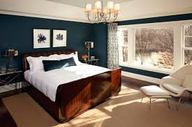 traditional bedroom ideas with color. White Ceiling Paint Color With Navy Blue Wall For Traditional Bedroom Decorating Ideas A