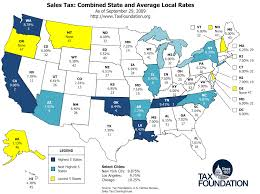 Map Sales Foundation Average Tax Rates