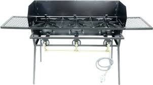 outdoor stove and oven build an grill smoker 3 burner with stand