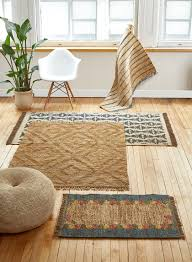 Jute Rug Living Room 4 X 6ft Blue Fringe Naural Jute Rug Neutral Tones Living Room Bedroom