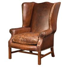 extraordinary leather wingback chair with nailhead trim pictures design inspiration