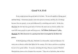 macbeth good vs evil gcse english marked by teachers com document image preview