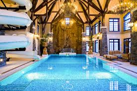 mansion with indoor pool with slides. Modren With This AMAZING 3story Indoor Swimming Pool Is Located In A Private  Residence It Was Built By Rocky Mountain Pools U0026 Spa Who Are Based Calgary Alberta  On Mansion With Indoor Pool Slides M