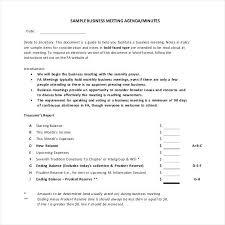 Sample Meeting Notes Business Meeting Recap Template