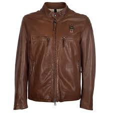 blauer usa dirty johnson brown leather jacket