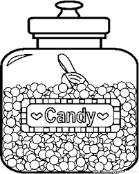 halloween candy coloring page. Halloween Candy Coloring Pages Printable Bar For Page