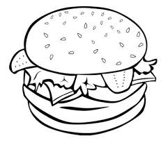 Small Picture Junk Food Coloring Pages Junk Food Burger Coloring Page Kids
